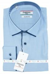 Francesco slim hosszúujjú ing - Kék hajszálcsíkos