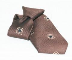 Gumis gyereknyakkendő - Barna kockás Gyerek nyakkendők