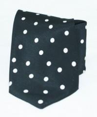 Roy  nyakkendő - Fekete pöttyös Aprómintás nyakkendők