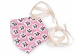Pamut szájmaszk - Rózsaszín mintás Egészségügyi maszkok