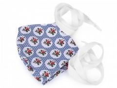 Pamut szájmaszk - Kék mintás Egészségügyi maszkok