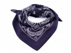 Pamut kendő - Paisley kék mintás Férfi kesztyű, sál
