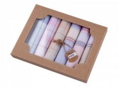 Női zsebkendő szett dobozban Pamut zsebkendő