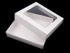Átlátszó papír doboz - Fehér