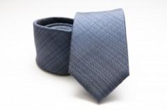 Prémium selyem nyakkendő - Szürkéskék Mintás nyakkendők
