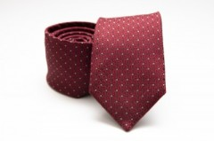 Prémium selyem nyakkendő - Bordó pöttyös Selyem nyakkendők