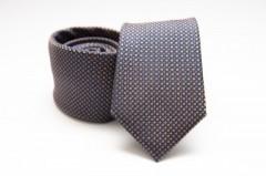 Prémium selyem nyakkendő - Narancs pöttyös Aprómintás nyakkendők