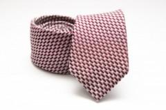 Prémium selyem nyakkendő - Bordó mintás Selyem nyakkendők
