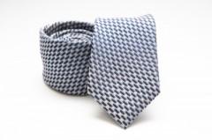 Prémium selyem nyakkendő - Kék mintás Aprómintás nyakkendők