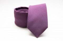 Prémium selyem nyakkendő - Lila Kockás nyakkendők