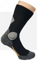 Komfort Munkás pamut zokni - Fekete-szürke Zoknik, Fehérneműk