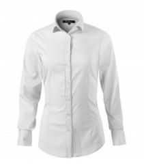 Elasztikus hosszúujjú női ing - Fehér Női ingek, pólók