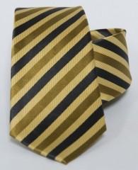 Prémium selyem nyakkendő - Sárga-fekete csíkos Selyem nyakkendők