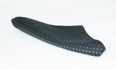 Díszzsebkendő - Fekete pöttyös