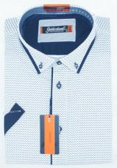 Goldenland rövidujjú ing - Kék aprómintás Rövidujjú ingek
