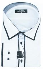 D&G Slim hosszúujjú ing - Fekete-fehér Hosszúujjú ingek