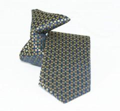 Gumis gyereknyakkendő - Arany kockás Gyerek nyakkendők