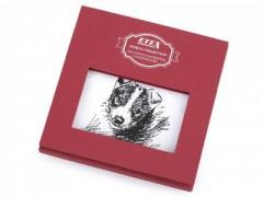 Ajándék zsebkendő szett  díszdobozban - Kutya