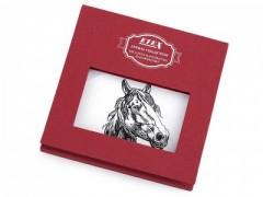 Ajándék zsebkendő szett  díszdobozban - Ló