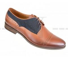 Carlo Benetti bőr cipő - Barna - Kék Bőr cipők