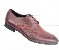 Carlo Benetti bőr cipő - Bordó Bőr cipők