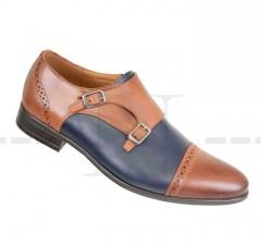 Carlo Benetti bőr cipő - Barna-kék Bőr cipők