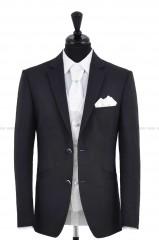 CB Esküvői öltöny+mellény szett 5 részes - Fekete-fehér Öltönyök, nadrágok