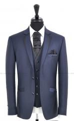 CB Esküvői öltöny+mellény szett 5 részes - Kékesszürke Öltönyök, nadrágok