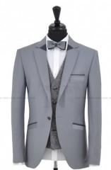 Carlo Benetti Esküvői öltöny+mellény szett 5 részes - Szürke Öltönyök, Zakók