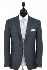 Carlo Benetti Esküvői öltöny+mellény szett 5 részes extra méret - Acélszürke Öltönyök, Zakók