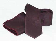 Goldenland nyakkendő szett - Bordó aprómintás Szettek