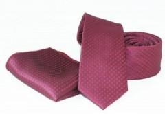 Goldenland nyakkendő szett - Meggybordó Szettek