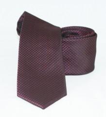 Goldenland slim nyakkendő - Bordó aprómintás