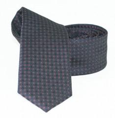 Goldenland slim nyakkendő - Fekete aprómintás