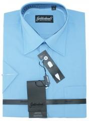 Goldenland rövidujjú ing - Kék Normál fazon
