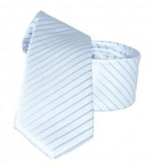 Goldenland slim nyakkendő - Ezüst csíkos Csíkos nyakkendők