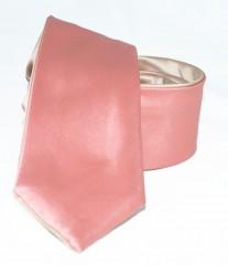 Goldenland 2in1 slim nyakkendő - Lazac-arany