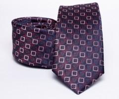 Prémium slim nyakkendő - Sötétlila kockás Kockás nyakkendők