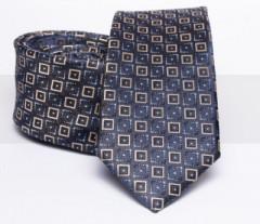 Prémium slim nyakkendő - Sötétkék kockás Kockás nyakkendők