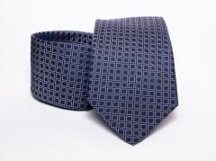 Prémium selyem nyakkendő - Kék kockás Kockás nyakkendők