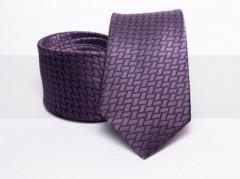 Prémium selyem nyakkendő - Lila kockás Kockás nyakkendők