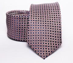 Prémium nyakkendő -  Kék kiskockás Aprómintás nyakkendők