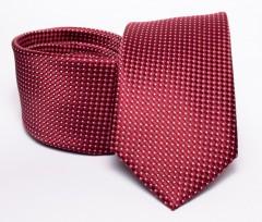 Prémium nyakkendő -  Meggypiros pöttyös Aprómintás nyakkendők