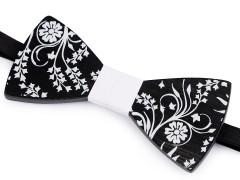 Fa csokornyakkendő - Fekete-fehér Csokornyakkendők
