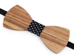 Fa csokornyakkendő - Fa-fekete Csokornyakkendők