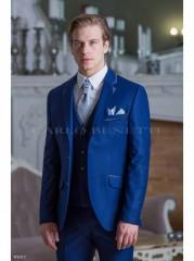 Carlo Benetti Esküvői öltöny+mellény szett 5 részes extra méret - Sötétkék Öltönyök, Zakók