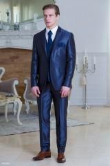 Carlo Benetti Esküvői öltöny+mellény szett 5 részes extra méret- Sötétkék Öltönyök, Zakók