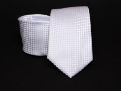 Prémium nyakkendő -  Fehér kockás Kockás nyakkendők