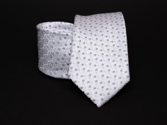 Prémium nyakkendő -  Fehér pöttyös Aprómintás nyakkendők