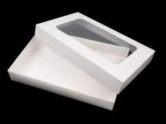 Átlátszó papír doboz - Fehér Ajándék csomagolás